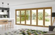 XL Joinery External Pre-Finished Oak La Porte Vista Mod 3 [6 Door] 4682 x 2098mm x 44mm
